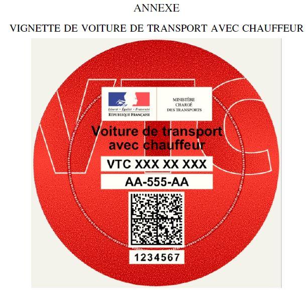 Nouvelle vignette pour les VTC